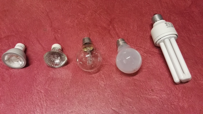 differents types d ampoules electriques